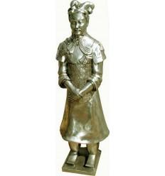 Sculpture d'un guerrier Xian en aluminium Réf : ALU1029