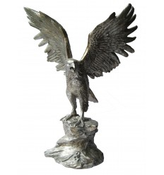 Bronze animalier : aigle en bronze BRZ0424a ( H .104 x L .71 Cm ) Poids : 35 Kg