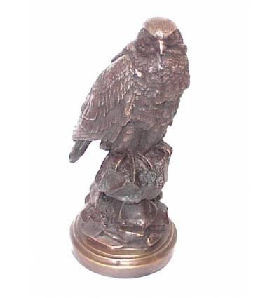 Aigle sur rocher en bronze Réf: BRZ0977m