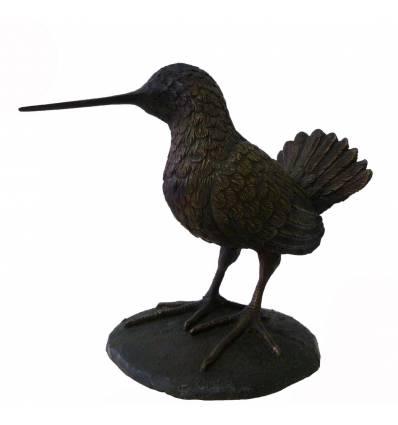 Bécasse en bronze BRZ1564  H 23. x L 23.  ( Cm ) - Poids : 3 Kg