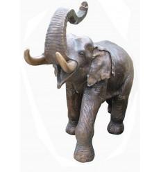 Bronze animalier :Eléphant en bronze BRZ902  ( H .129 x L .165 Cm )  Poids : 104 Kg