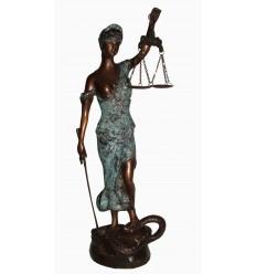 Sculpture de la Justice en bronze BRZ0910V-16 ( H .40 x L .20 Cm )