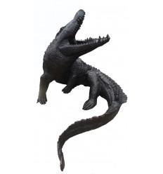 Crocodile en bronze BRZ1750 ( H .120 x L :145 Cm ) Poids : 80 Kg