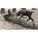 Combat de cerfs en bronze BRZ0889 ( H .114 x L .246 Cm ) Poids : 340 Kg