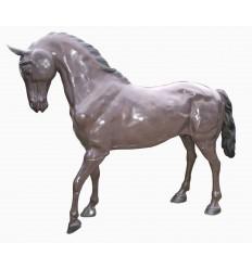 Cheval en bronze BRZ1631 ( H .185 x L .220 Cm ) Poids : 247 Kg