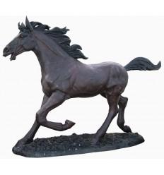 Cheval en bronze BRZ1453 ( H .185 x L .220 Cm ) Poids : 247 Kg