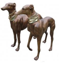 Bronze animalier : chien en bronze BRZ0144  ( H .109 x L .114 Cm )  Poids : 90 Kg