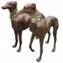 chien en bronze BRZ0144 ( H .109 x L .114 Cm ) Poids : 90 Kg