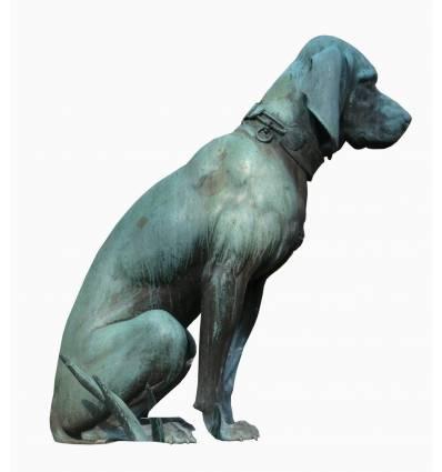 chien en bronze BRZ1513  ( H .95 x L .80 Cm )  Poids : 40 Kg