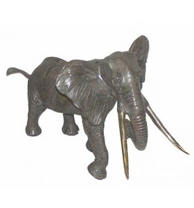 Bronze animalier :Eléphant en bronze BRZ224 ( H .73 x L .140 Cm )