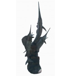 Bronze animalier : espadon en bronze BRZ1408  ( H .214 x L .100 Cm )  Poids : 100 Kg