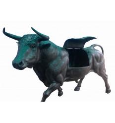 Taureau en bronze BRZ1745 ( H 170 . x L : 299 Cm ) Poids : 230 Kg