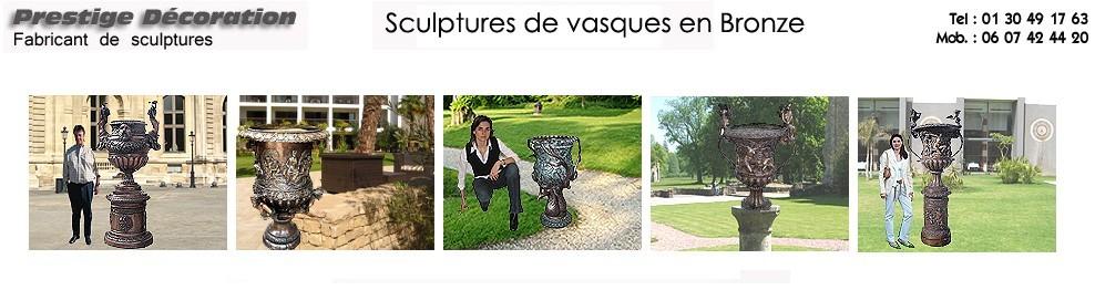 Pots, vases de jardin en bronze - Prestige décoration